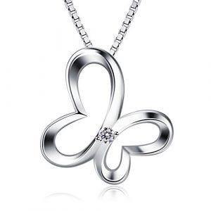 """Collar mujer colgante mariposas 925 plata de ley """"sueños de mariposas"""" con para regalo originales cadena 45cm longitud"""
